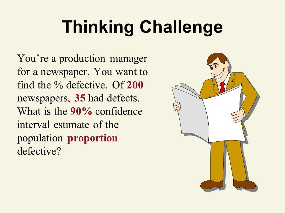 Thinking Challenge