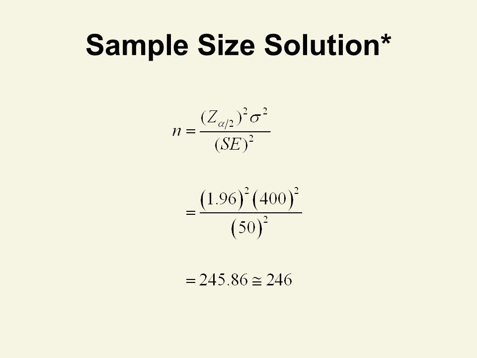 Sample Size Solution* 93