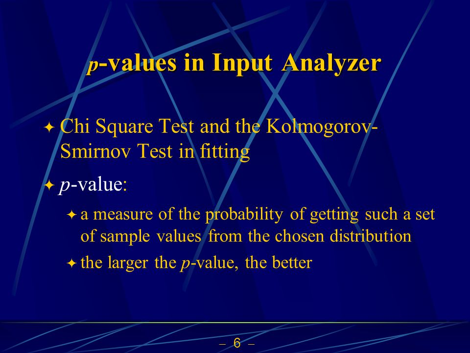 p-values in Input Analyzer