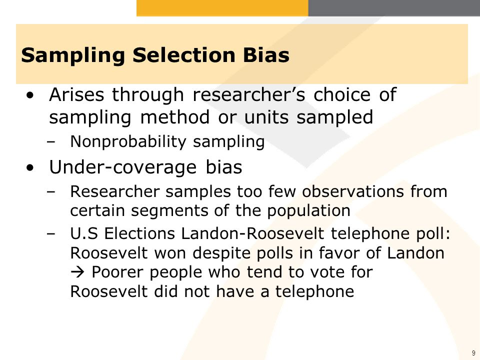 Sampling Selection Bias