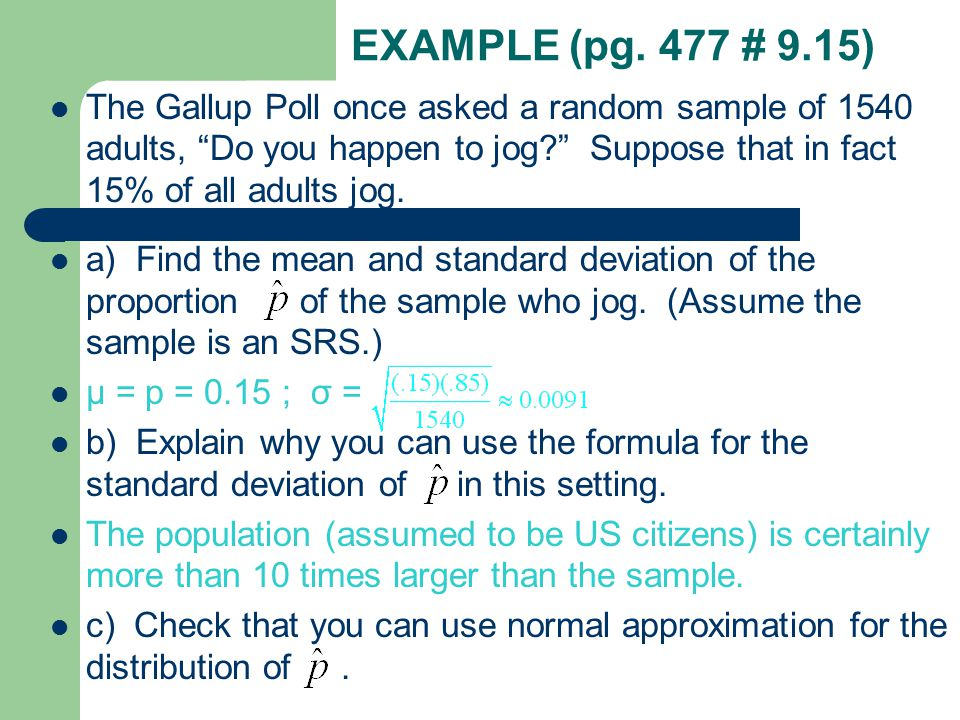 EXAMPLE (pg. 477 # 9.15)