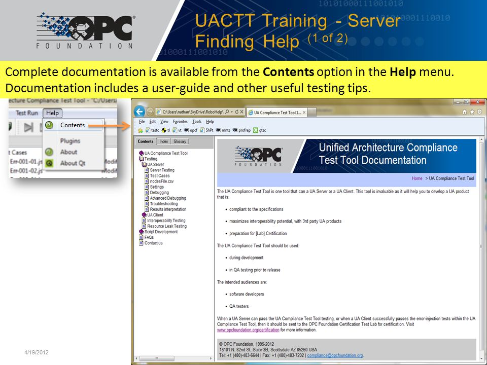 UACTT Training - Server Finding Help (1 of 2)