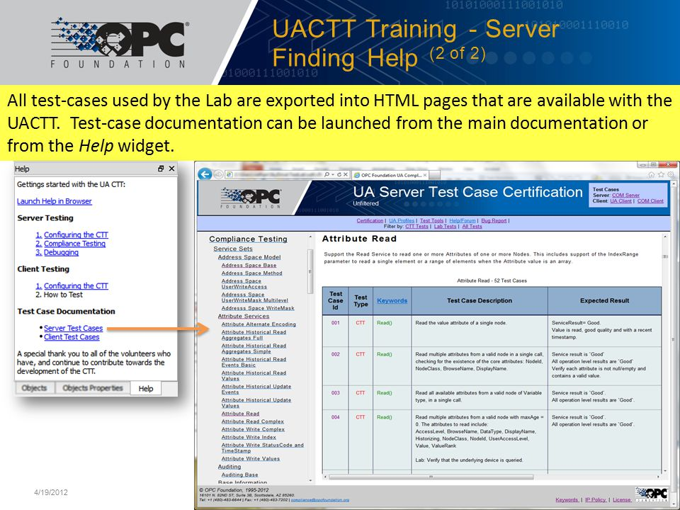 UACTT Training - Server Finding Help (2 of 2)