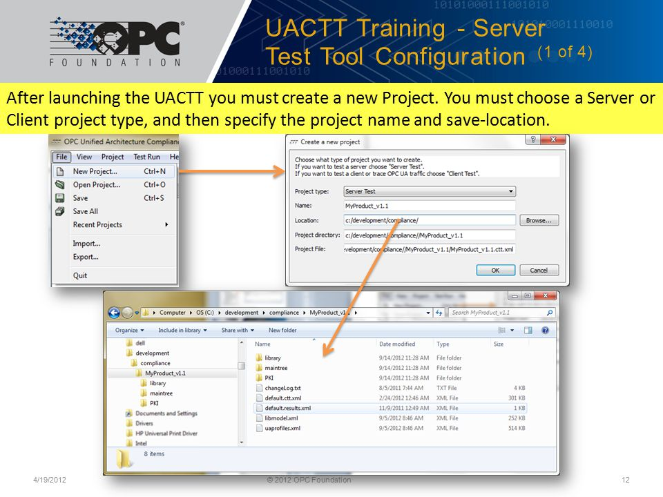 UACTT Training - Server Test Tool Configuration (1 of 4)
