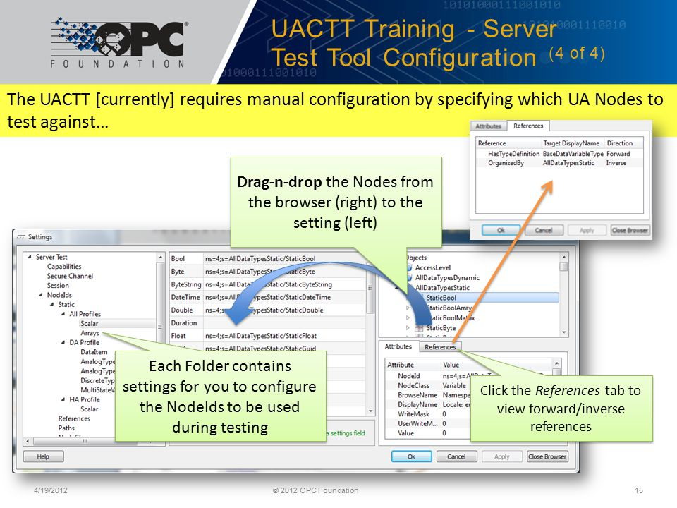 UACTT Training - Server Test Tool Configuration (4 of 4)