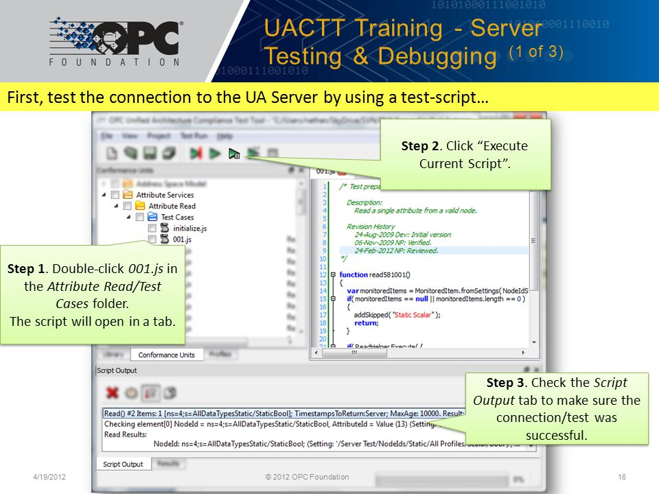 UACTT Training - Server Testing & Debugging (1 of 3)