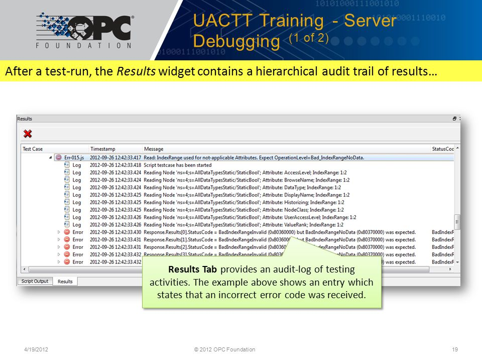 UACTT Training - Server Debugging (1 of 2)