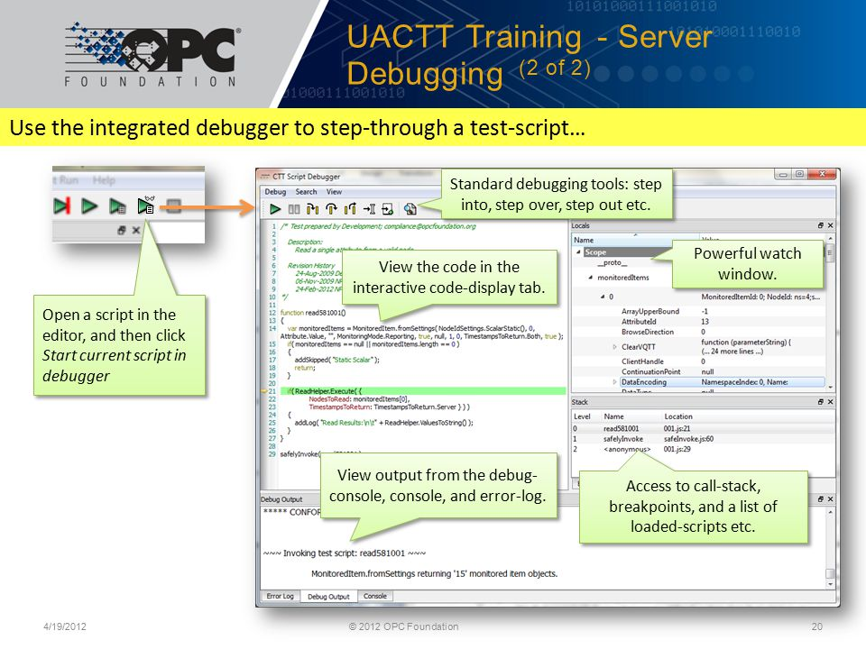 UACTT Training - Server Debugging (2 of 2)