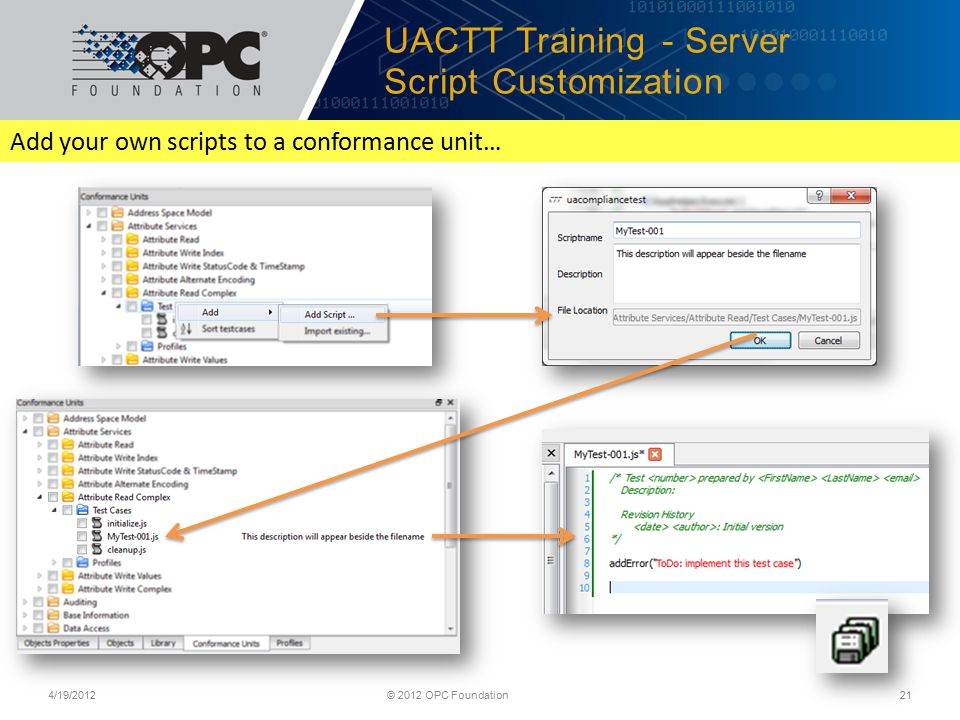 UACTT Training - Server Script Customization