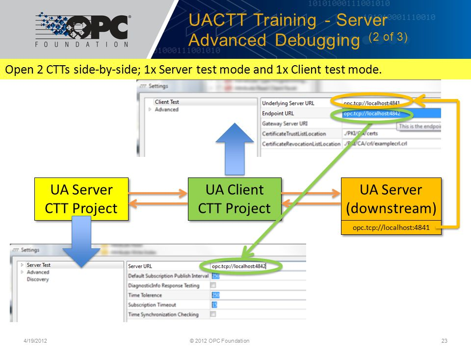 UACTT Training - Server Advanced Debugging (2 of 3)