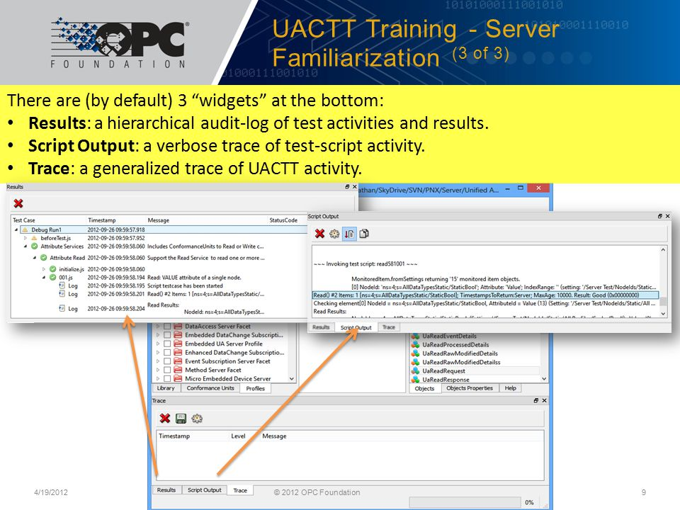 UACTT Training - Server Familiarization (3 of 3)