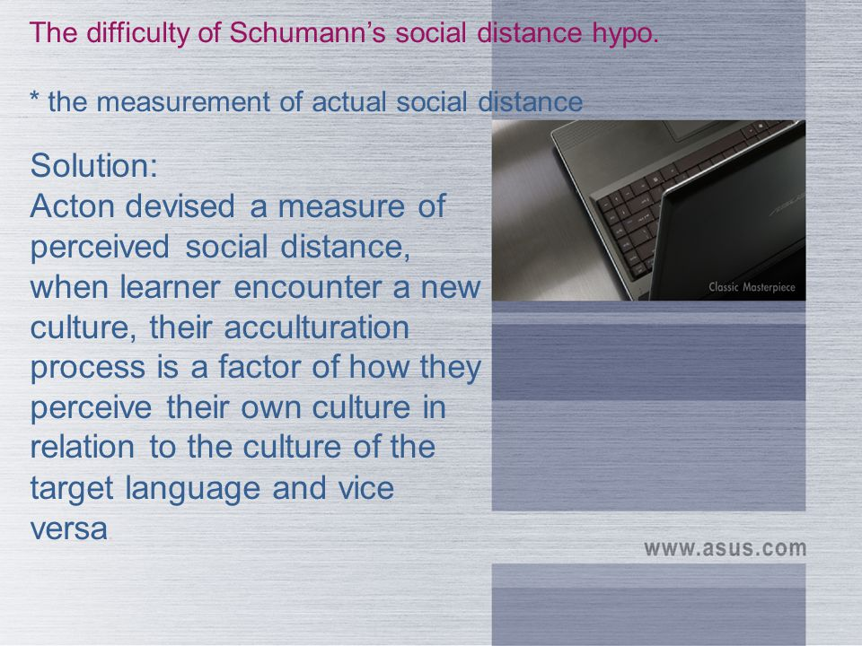 The difficulty of Schumann's social distance hypo.