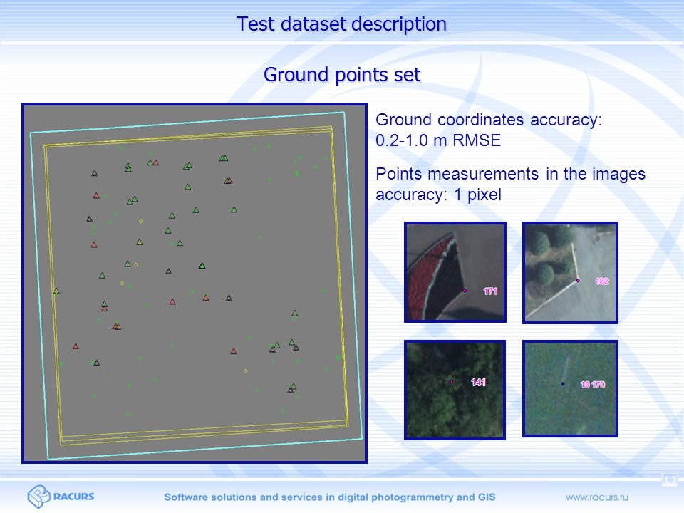 Test dataset description