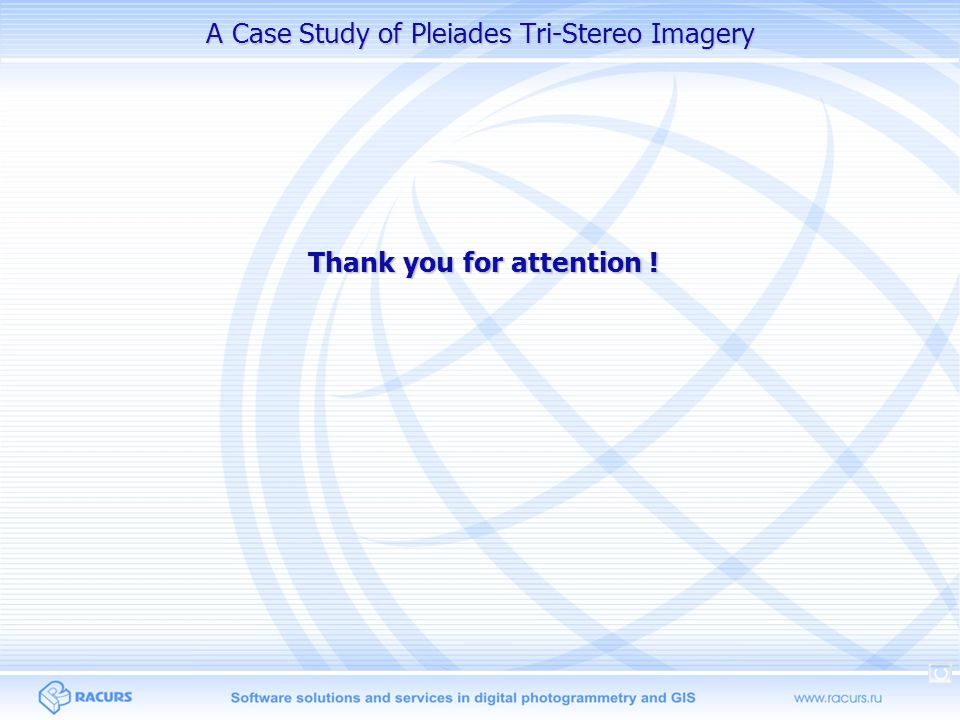 A Case Study of Pleiades Tri-Stereo Imagery