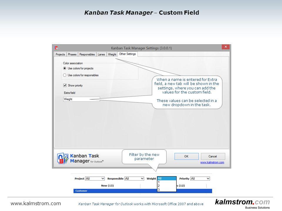 Kanban Task Manager ‒ Custom Field