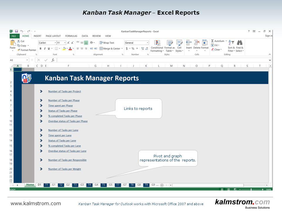 Kanban Task Manager ‒ Excel Reports