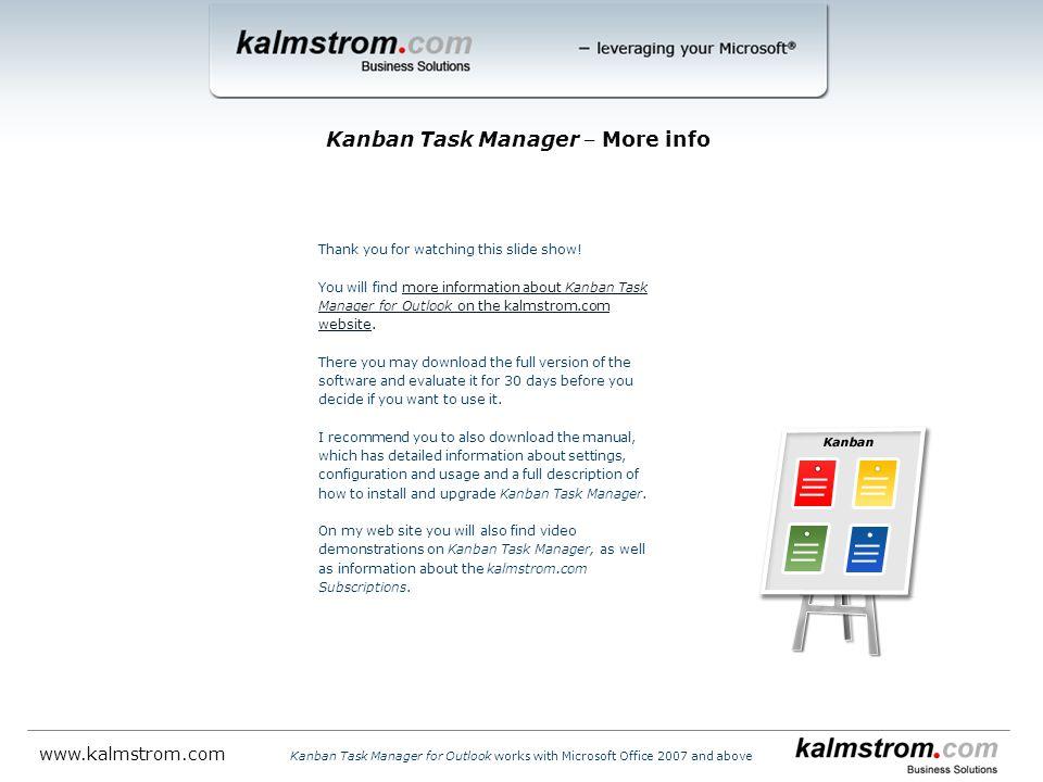 Kanban Task Manager ‒ More info