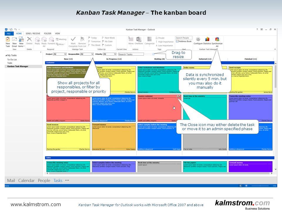 Kanban Task Manager ‒ The kanban board