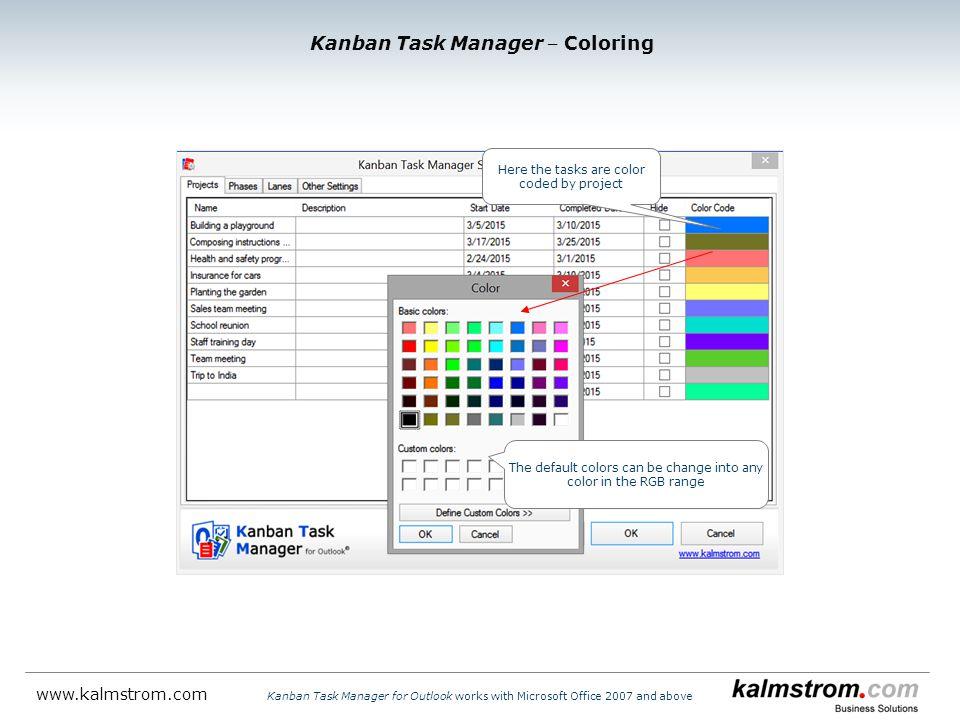 Kanban Task Manager ‒ Coloring