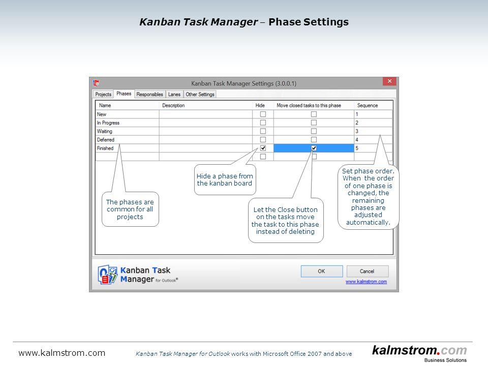 Kanban Task Manager ‒ Phase Settings