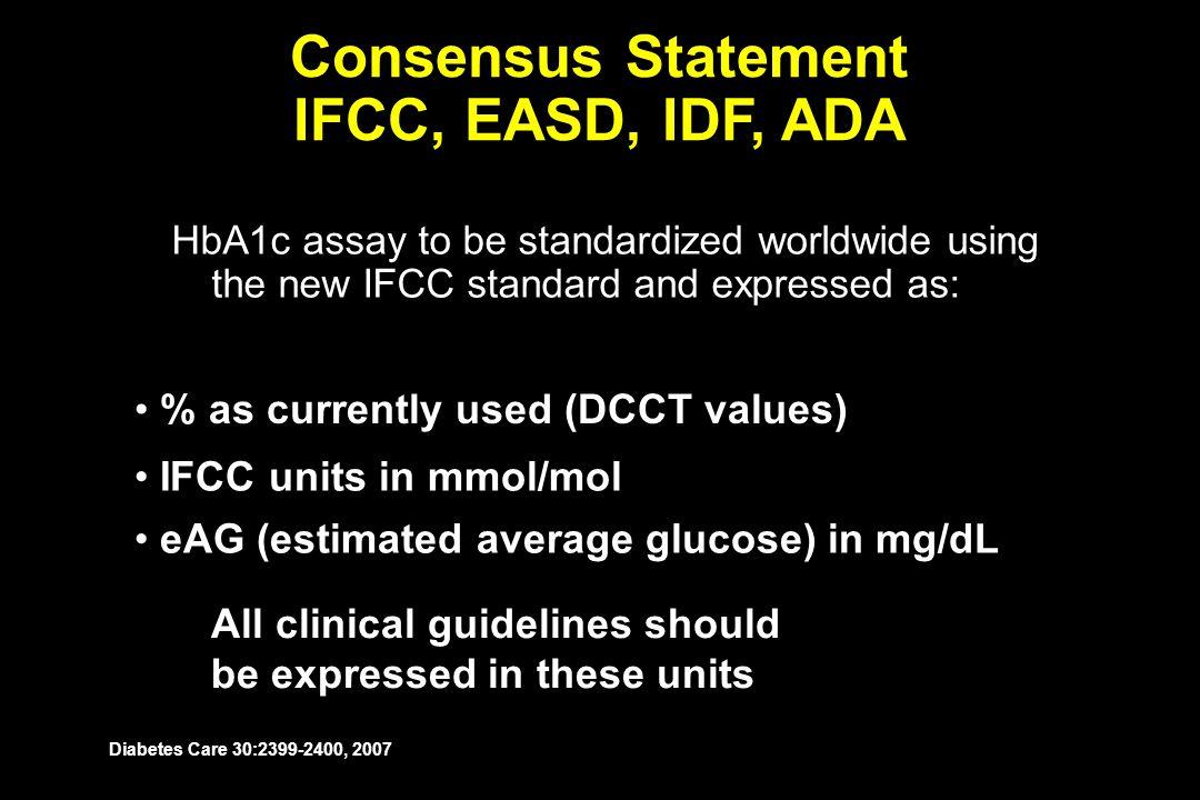 Consensus Statement IFCC, EASD, IDF, ADA