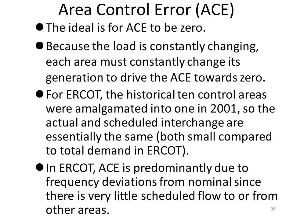 Area Control Error (ACE)