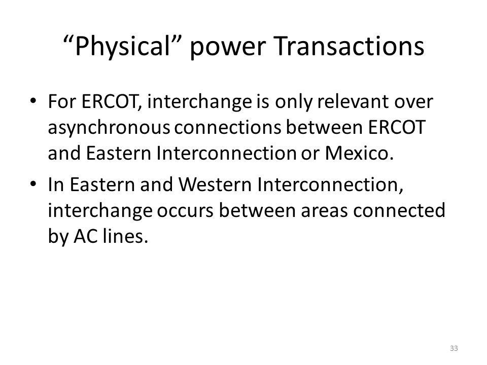 Physical power Transactions