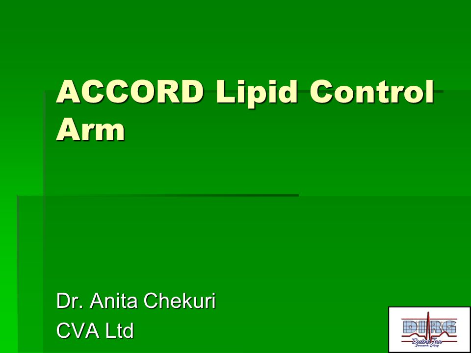 ACCORD Lipid Control Arm