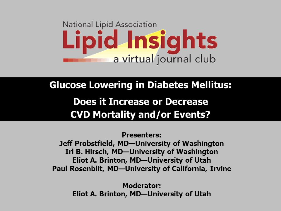 Glucose Lowering in Diabetes Mellitus: