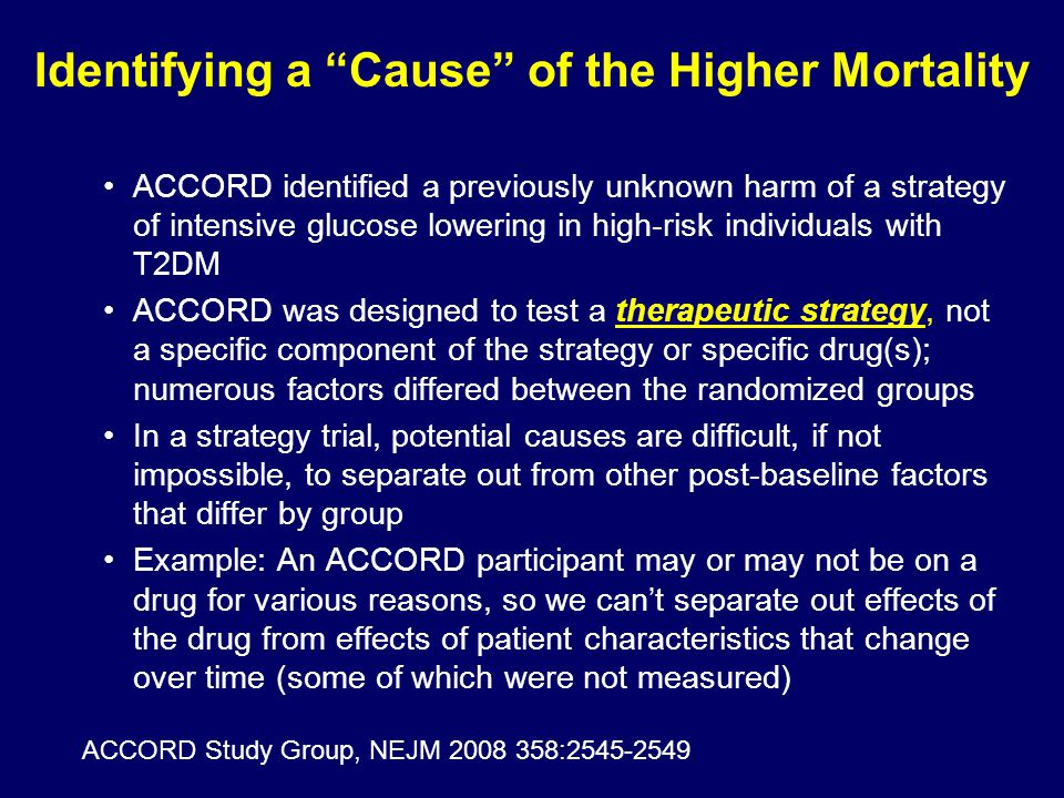 Identifying a Cause of the Higher Mortality