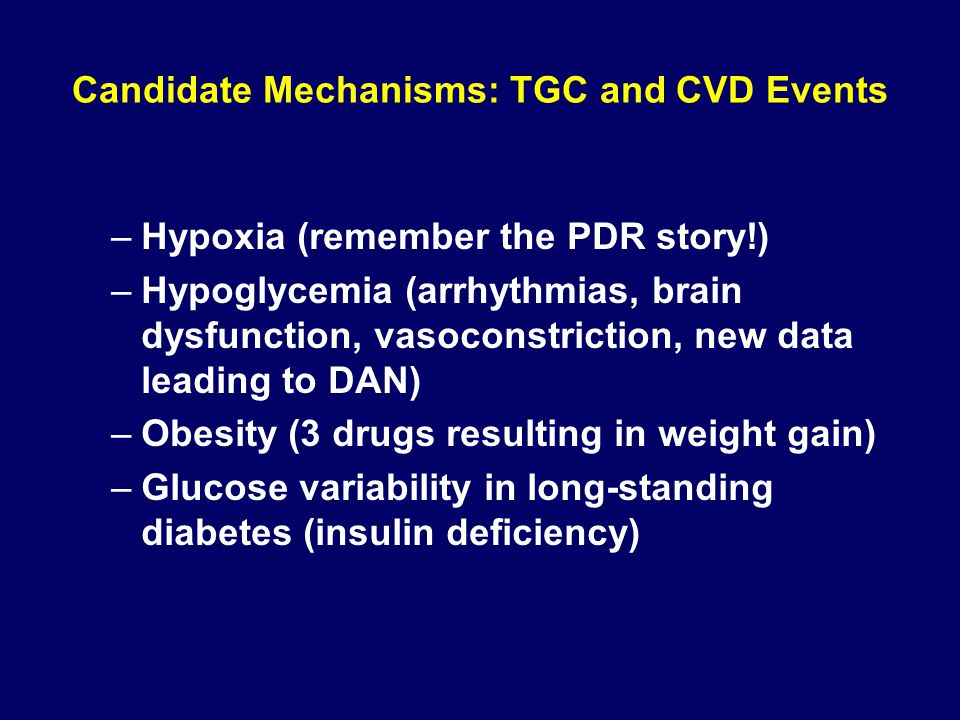 Candidate Mechanisms: TGC and CVD Events