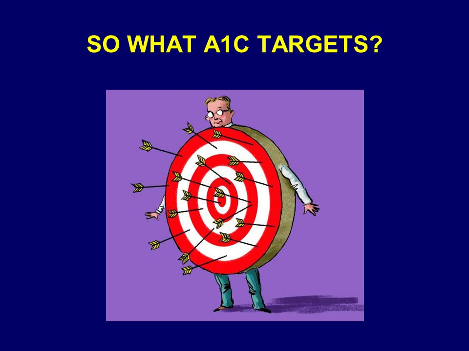 SO WHAT A1C TARGETS