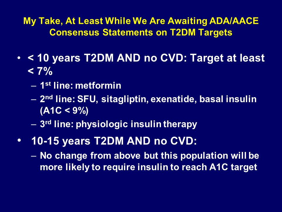 My Take, At Least While We Are Awaiting ADA/AACE Consensus Statements on T2DM Targets