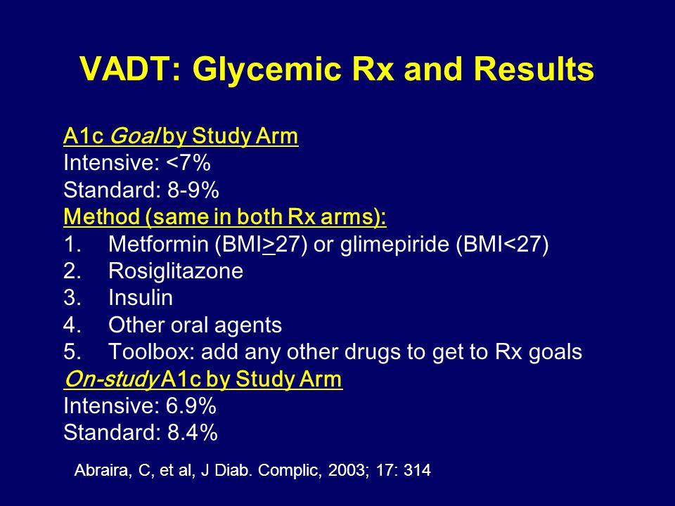 VADT: Glycemic Rx and Results