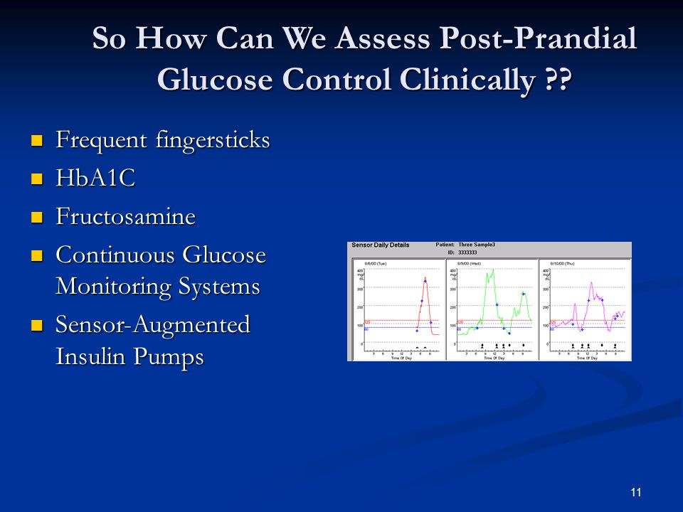 So How Can We Assess Post-Prandial Glucose Control Clinically