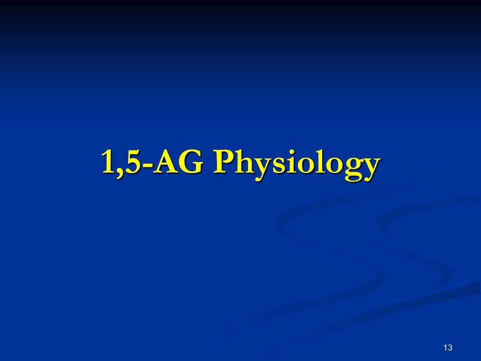 1,5-AG Physiology