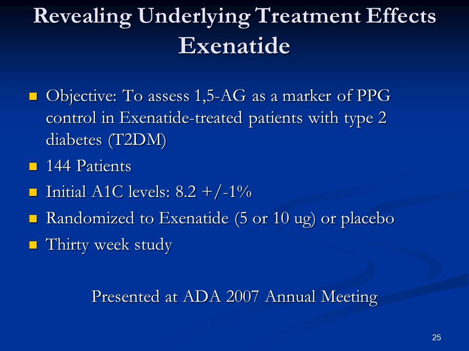 Revealing Underlying Treatment Effects Exenatide