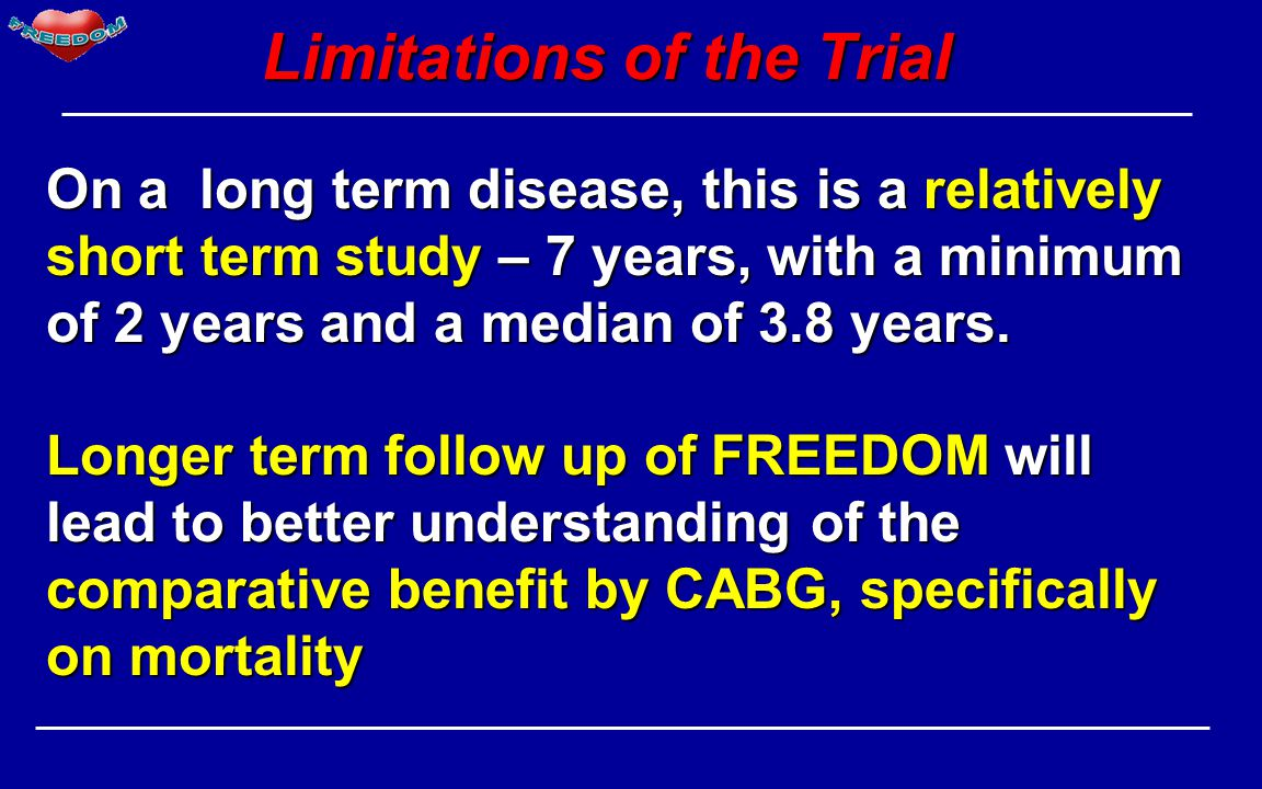 Limitations of the Trial