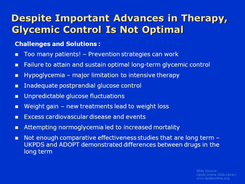 Despite Important Advances in Therapy, Glycemic Control Is Not Optimal