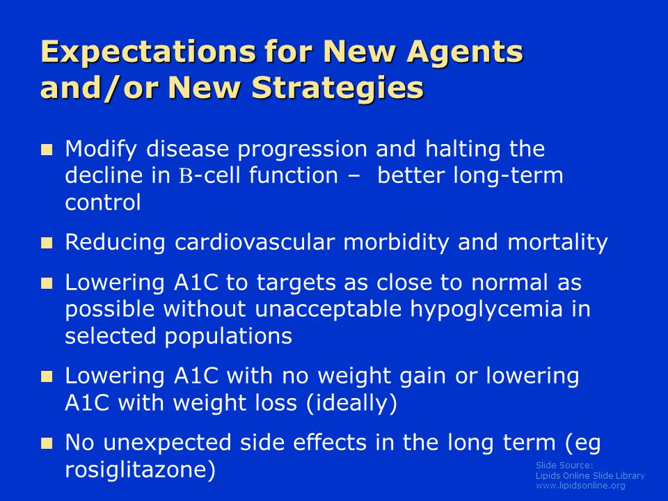 Expectations for New Agents and/or New Strategies
