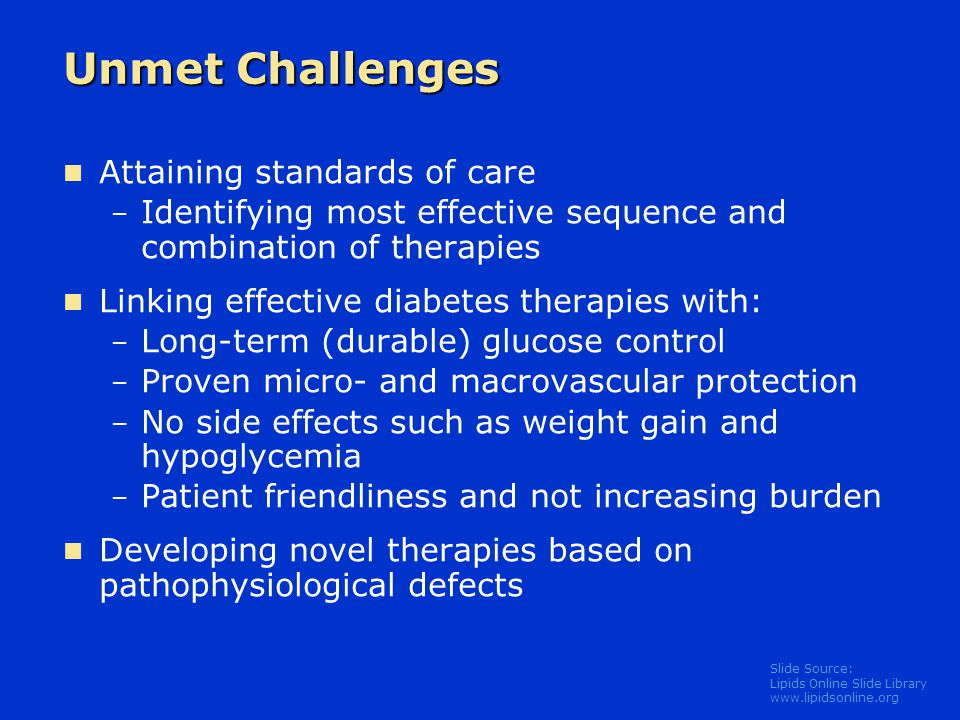 Unmet Challenges Attaining standards of care