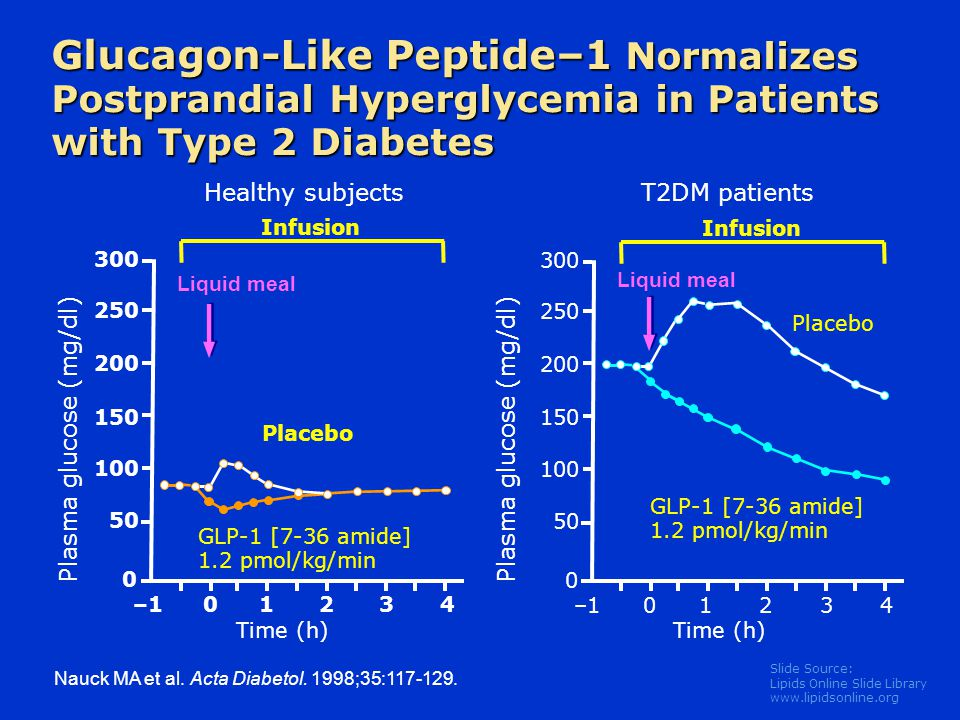 Glucagon-Like Peptide–1 Normalizes Postprandial Hyperglycemia in Patients with Type 2 Diabetes
