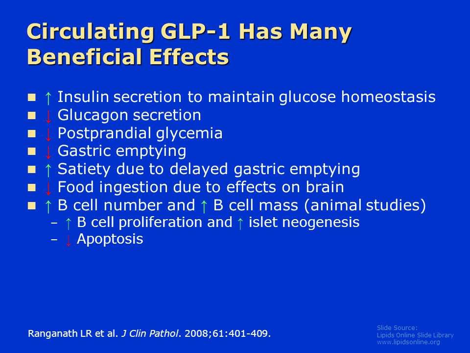 Circulating GLP-1 Has Many Beneficial Effects