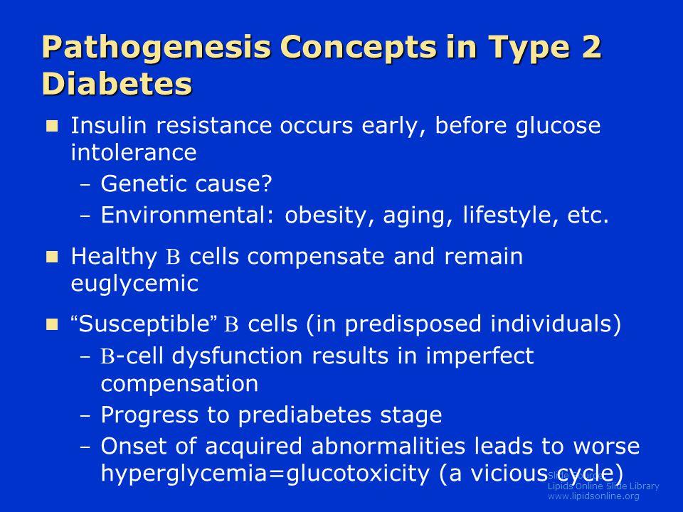 Pathogenesis Concepts in Type 2 Diabetes