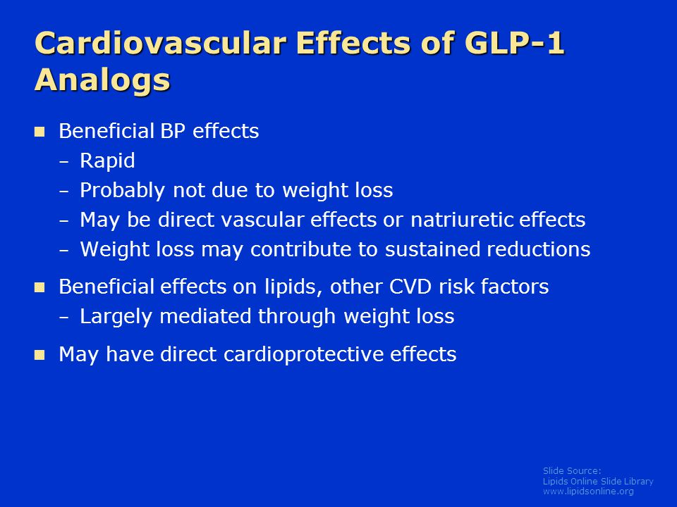 Cardiovascular Effects of GLP-1 Analogs
