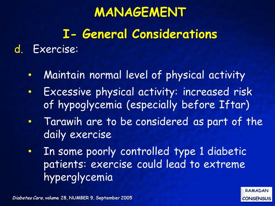 MANAGEMENT I- General Considerations