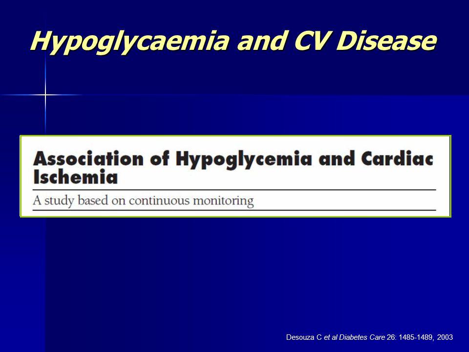 Hypoglycaemia and CV Disease