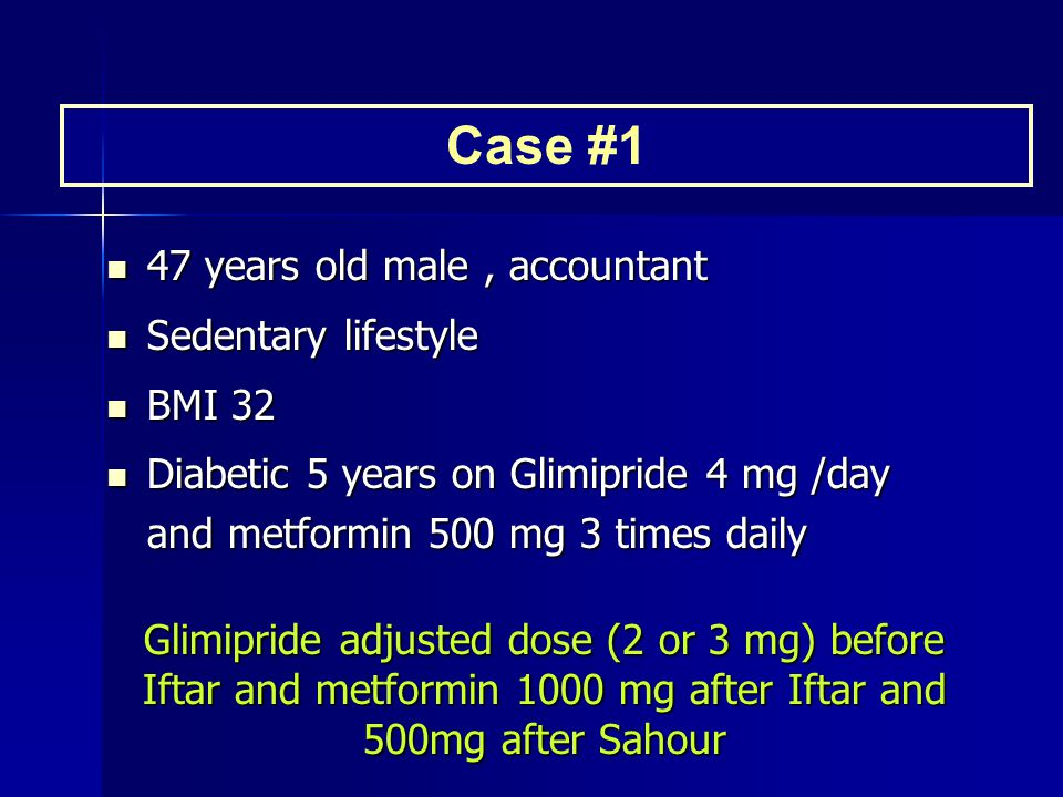 Case #1 47 years old male , accountant Sedentary lifestyle BMI 32