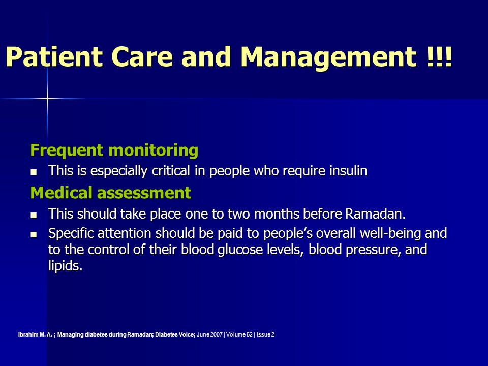 Patient Care and Management !!!