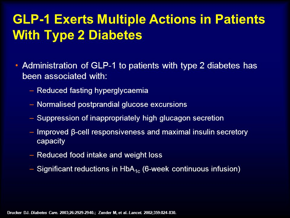 GLP-1 Exerts Multiple Actions in Patients With Type 2 Diabetes